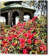 Pavilion And Azaleas  Acrylic Print