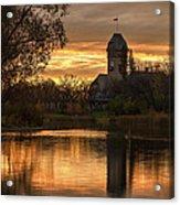 Pavilion Sunrise Acrylic Print by Stuart Deacon