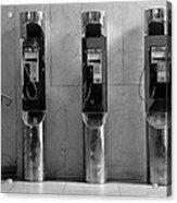Pay Phones 2b Acrylic Print