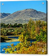 Payette River And Squaw Butte Acrylic Print