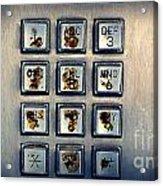 Payphone Keypad Acrylic Print