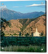 Payson Temple Mountains Acrylic Print