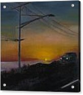 Pch At Night Acrylic Print by Lindsay Frost