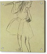 Girl Dancer At The Barre Acrylic Print