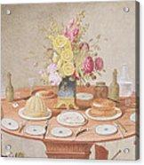 Pd.869-1973 Still Life With A Vase Acrylic Print