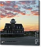 Oregon Inlet Life Saving Station 2693 Acrylic Print