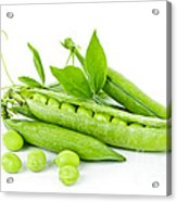Pea Pods And Green Peas Acrylic Print