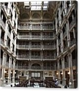 Peabody Library Baltimore Acrylic Print