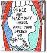 Peace And Harmony Acrylic Print