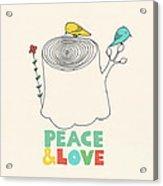 Peace And Love Acrylic Print