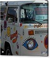 Peace And Love Van Acrylic Print
