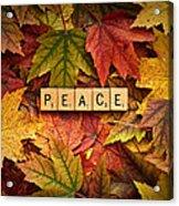 Peace-autumn Acrylic Print