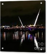 The Peace Bridge At Night Acrylic Print