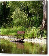 Peace By The River Acrylic Print