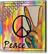 Peace In Every Color Acrylic Print