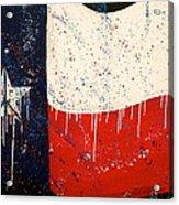 Peace Love And Texas Acrylic Print by Debi Starr