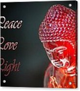 Peace Love Light Acrylic Print