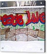 Peace Love Acrylic Print