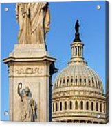 Peace Monument And Capitol Acrylic Print