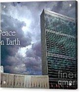 Peace On Earth - United Nations Acrylic Print