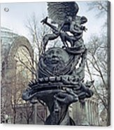 Peace Sculpture In New York Acrylic Print