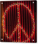 Peace Sign Christmas Lights Acrylic Print