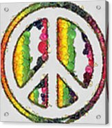 Peace Sign Fruits And Vegetables Acrylic Print