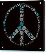 Peace Symbol Design - 87d Acrylic Print by Variance Collections