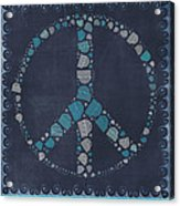 Peace Symbol Design - Btq19at2 Acrylic Print by Variance Collections