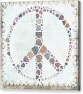 Peace Symbol Design - S76at02 Acrylic Print
