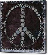 Peace Symbol Design - S79bt2 Acrylic Print
