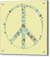 Peace Symbol Design - Y87d Acrylic Print by Variance Collections