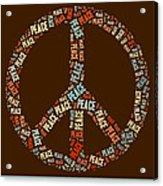 Peace Symbol Retro - 0103b  Acrylic Print