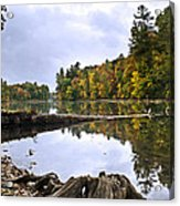 Peaceful Autumn Lake Acrylic Print