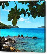 Peaceful Beach St. Thomas Acrylic Print