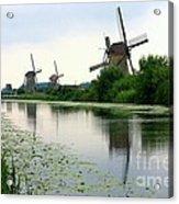Peaceful Dutch Canal Acrylic Print