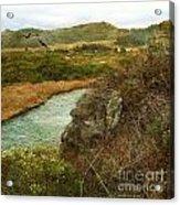 Peaceful Estuary In Carmel Acrylic Print