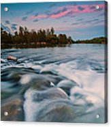 Peaceful Evening Acrylic Print by Davorin Mance