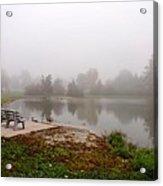 Peaceful Foggy Morning Marr Park Acrylic Print