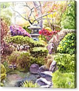 Peaceful Garden Acrylic Print