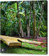 Peaceful Garden Acrylic Print