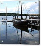 Peaceful Harbor Scene - Ct Acrylic Print