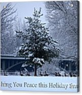 Peaceful Holiday Card - Winter Landscape Acrylic Print