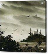 Peaceful Inland Cove Acrylic Print