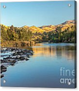 Peaceful River Acrylic Print by Robert Bales