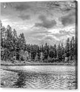 Peaceful Times 2 Black And White Acrylic Print