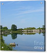 Peaceful Water Reflection At Tommy Thompson Park Acrylic Print