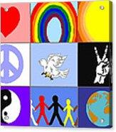 peaceloveunity Mosaic Acrylic Print