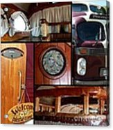 Peacemaker Bus Collage Acrylic Print