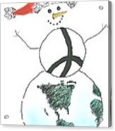 Peacemaker Snowman Acrylic Print